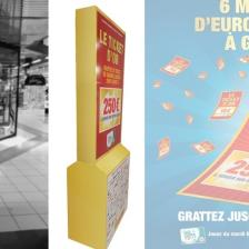 Totem carton grand jeu Ticket d'Or
